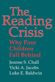 The Reading Crisis by Jeanne S. Chall