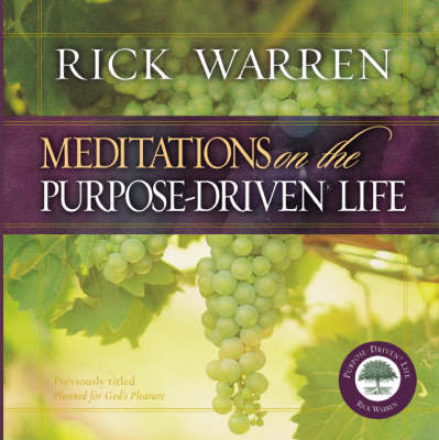 Meditations on the Purpose Driven Life by Rick Warren image