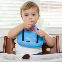 Make My Day: Silicon Baby Bib - Scholar Blue
