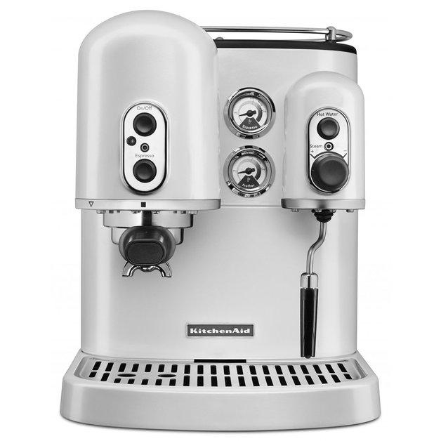 KitchenAid Espresso Coffee Machine - Frosted Pearl
