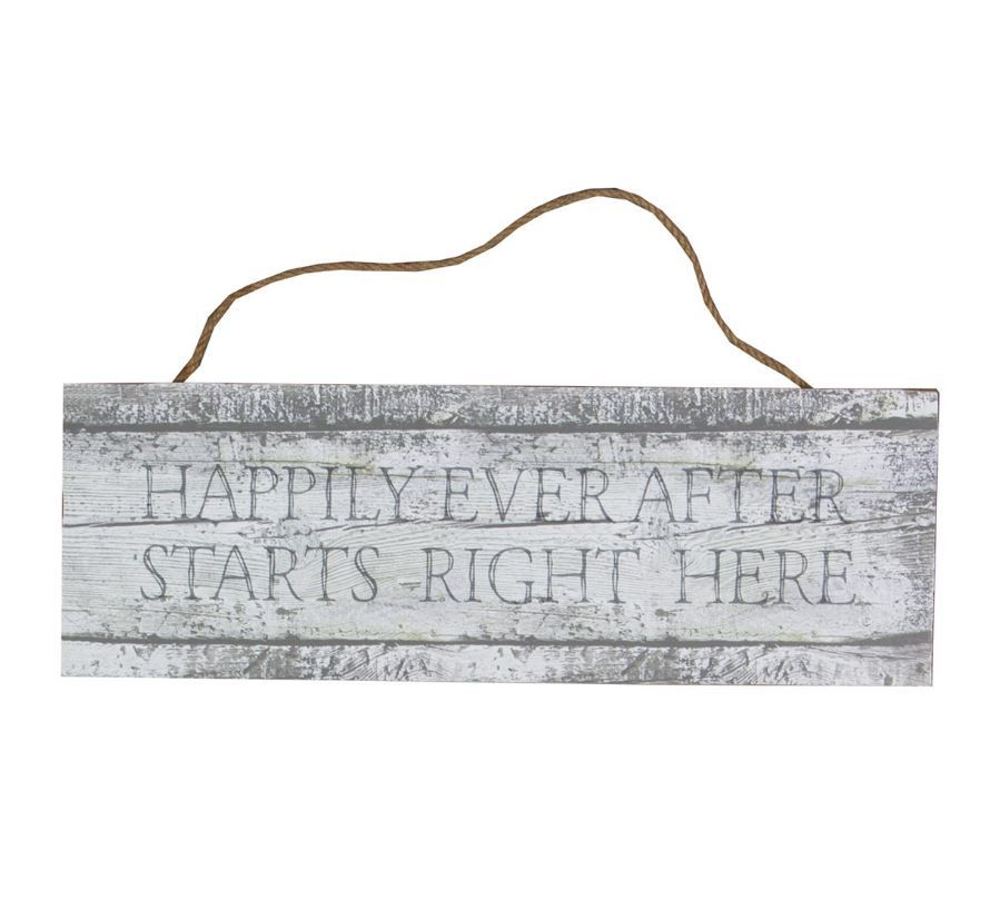 Coastal Chic Happily Ever After Hanging Sign image
