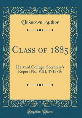 Class of 1885 by Unknown Author image