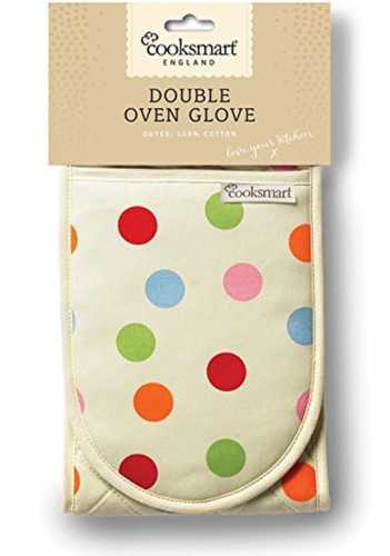 Spots Design Double Oven Gloves