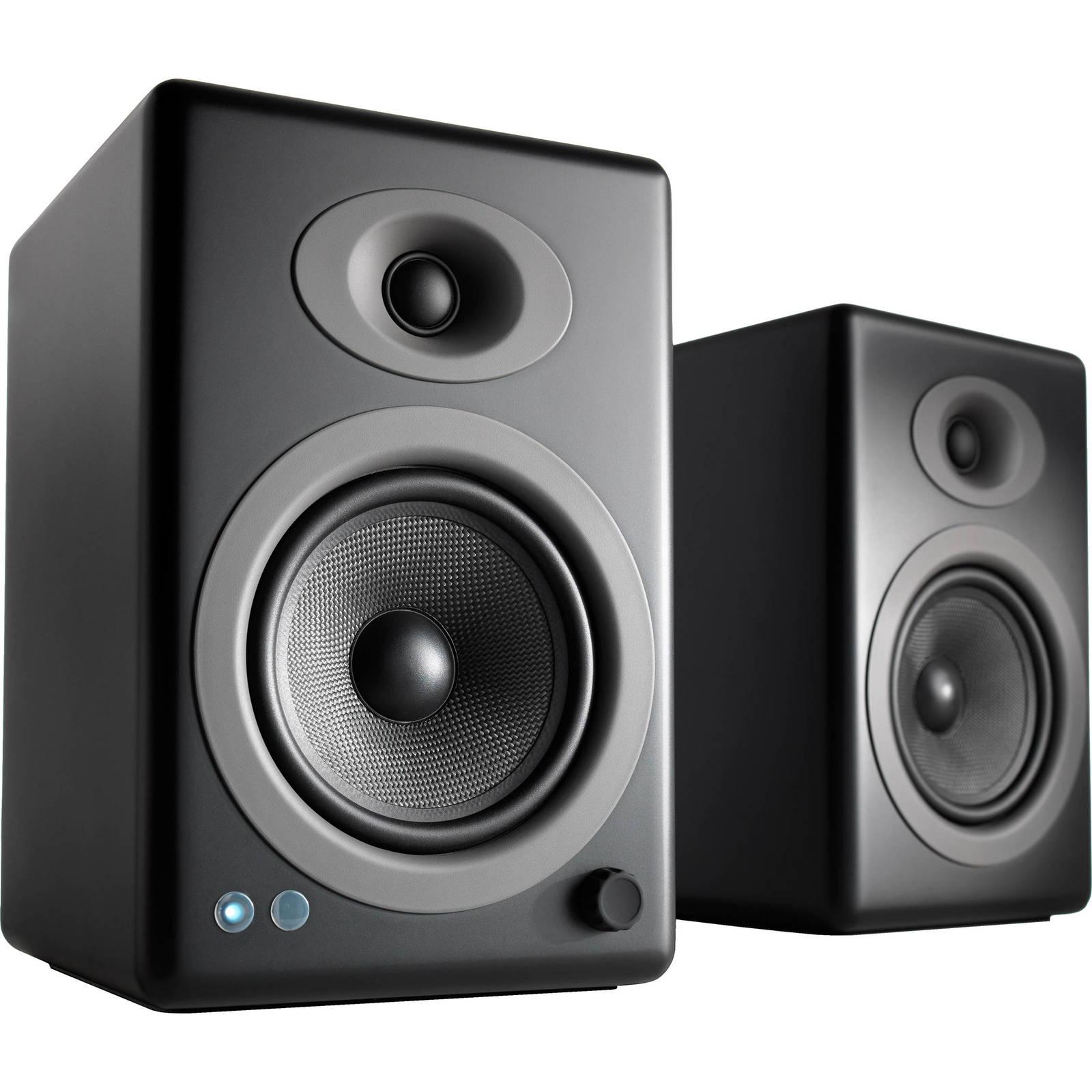 Audioengine: 5+ Wireless Powered Speakers (pair) - Satin Black image