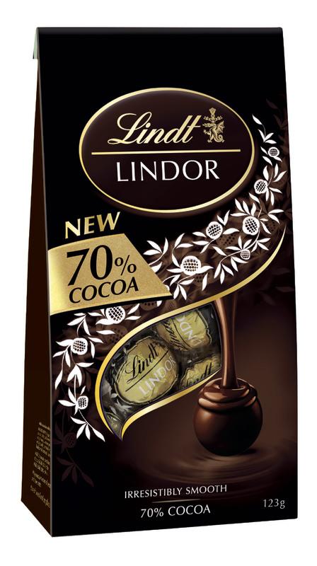 Lindt: Lindor 70% Cocoa Bag (123g)