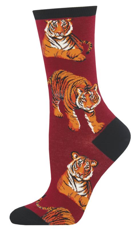 Socksmith: Women's I Ain't Lion Crew Socks - Red
