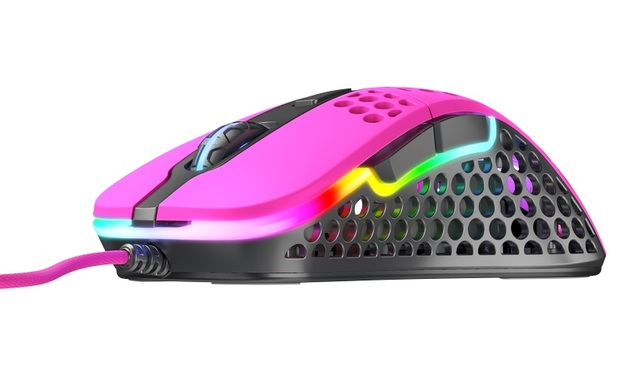 XTRFY M4 Ultra-Light RGB Gaming Mouse (Pink) for PC