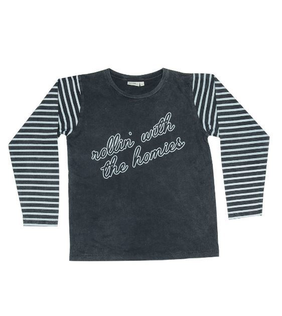 Zuttion Kids: L/S Round Neck Tee Rollin With The Homies - 9-10