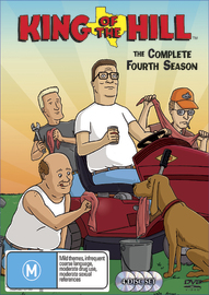King Of The Hill - Complete Season 4 (4 Disc Set) on DVD image