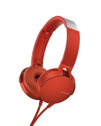 Sony MDR-XB550AP Overhead Extra Bass Headphones - Red