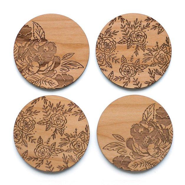 Cardtorial Floral Coasters