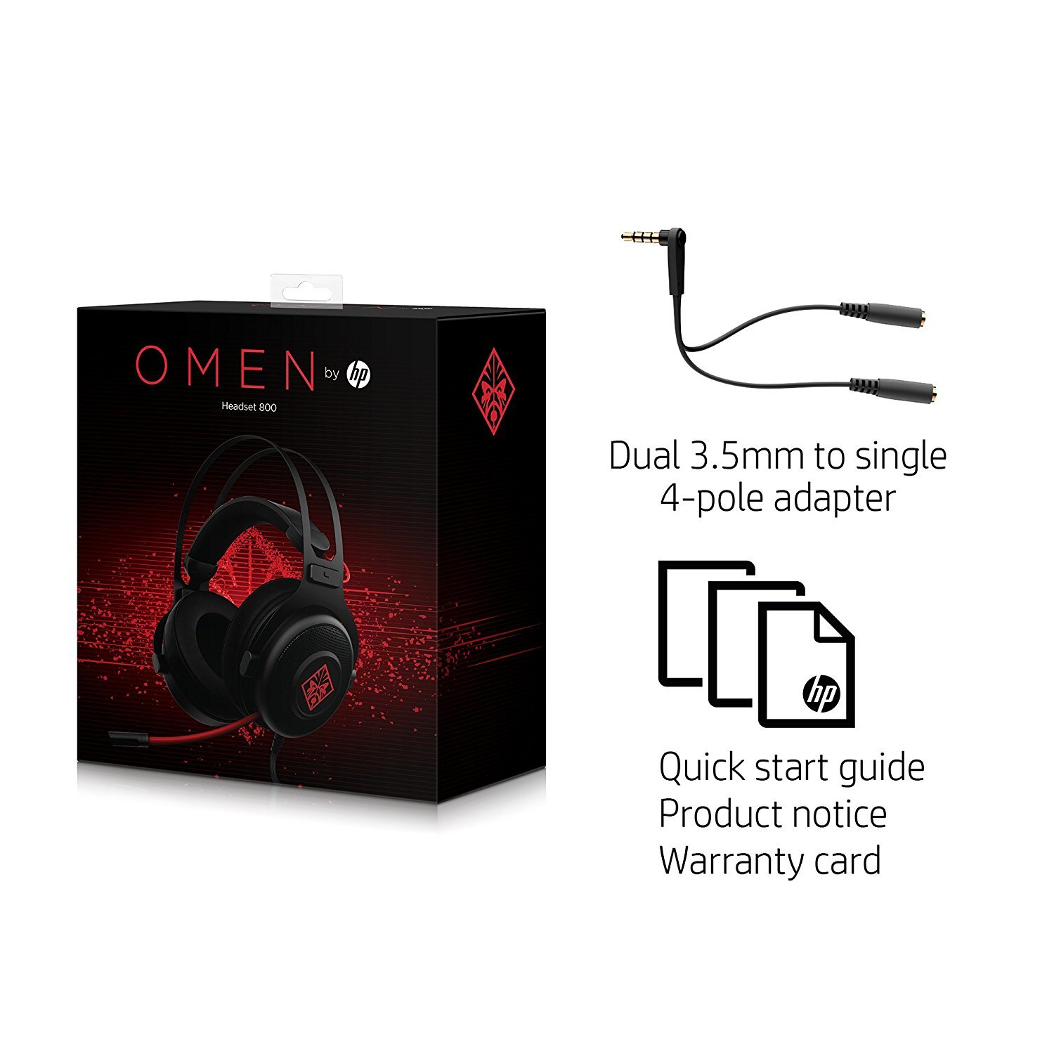 3df528b65f7 HP Omen 800 Wired Gaming Headset | PC | On Sale Now | at Mighty Ape NZ