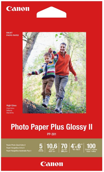 Canon PP-301 4x6 Glossy II 275gsm Photo Paper (100 Sheets) image