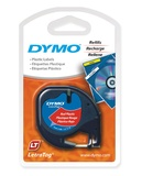Dymo LetraTag Label Tape - 4m (Black on Red)