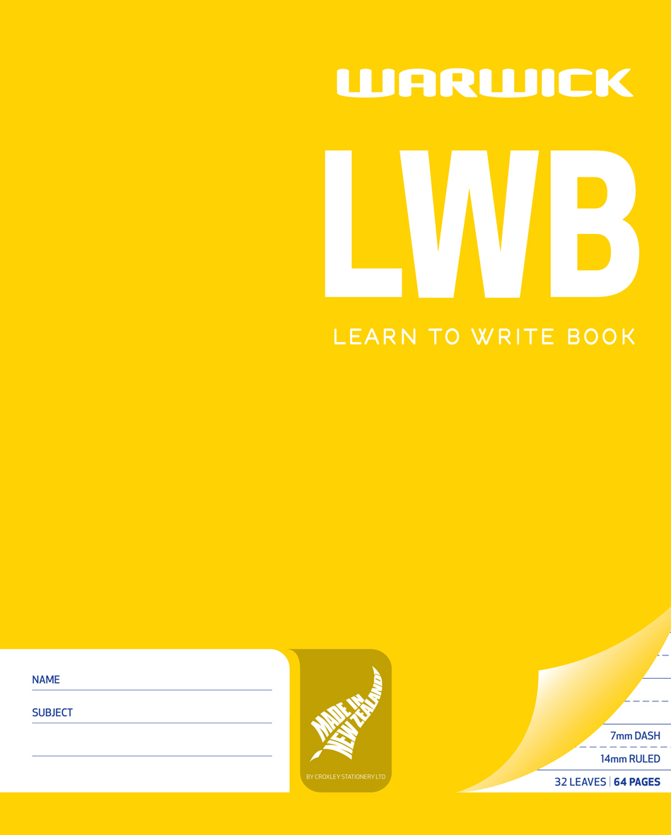 Warwick LWB 32lf 255x205mm Learn to Write Exercise Book image