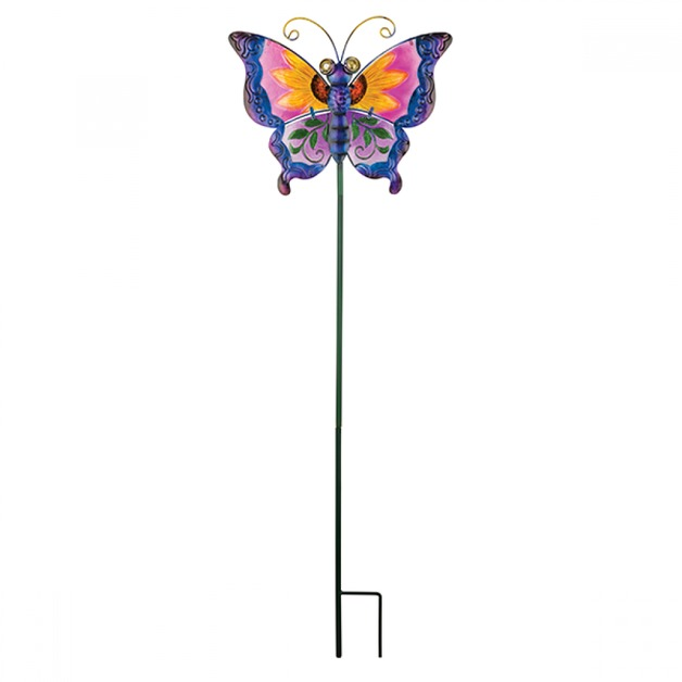 Regal: Floral Butterfly Stake - Purple