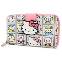 Loungefly: Hello Kitty - Characters Zip-Around Wallet