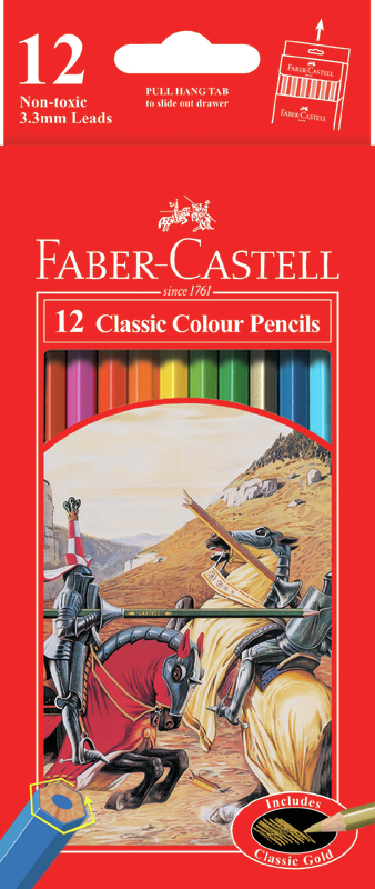 Faber-Castell: 12 Classic Colour Pencils with 30 Rainbow Felt Markers