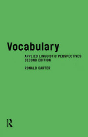 Vocabulary: Applied Linguistic Perspectives by Ronald Carter image