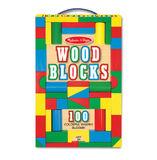 Melissa & Doug: 100pc Wood Blocks Set