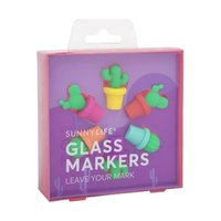 Sunnylife Cactus Glass Markers