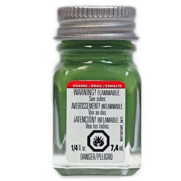 Testors: Enamel Paint - Flat Green