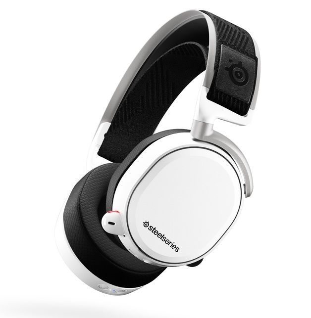 SteelSeries Arctis Pro Wireless Gaming Headset (White) for PC, PS4
