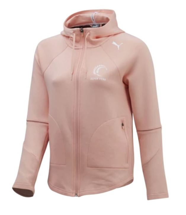 Puma: Silver Ferns FZ Hooded Jacket Peach Bud (X-Large)