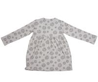 Cheeky Chimp: AOP Long Sleeved Dress - Charcoal (Size 6)