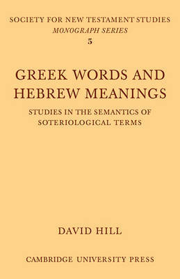 Greek Words Hebrew Meanings by David Hill