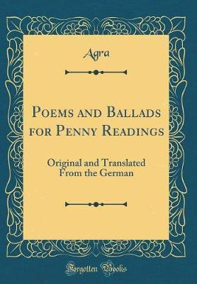 Poems and Ballads for Penny Readings by Agra Agra image