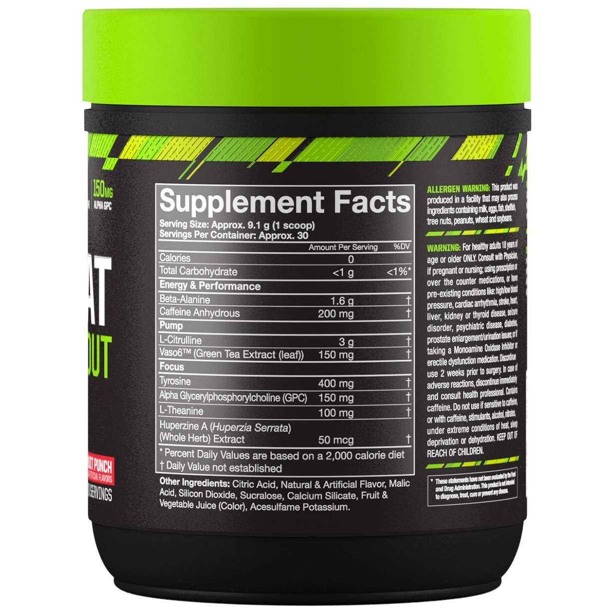 MusclePharm Combat Pre-Workout - Fruit Punch (30 Serves) image