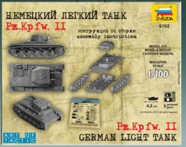 Zvezda 1/100 German Light Tank Pz.Kp.fw II image
