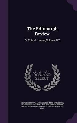 The Edinburgh Review by George Cornewall Lewis