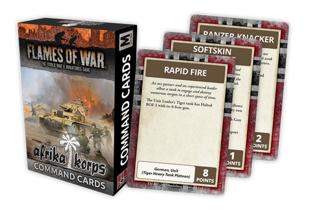 Flames of War: Afrika Korps - Command Cards