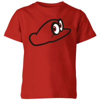 Nintendo Super Mario Odyssey Cappy Kids' T-Shirt - Red - 7-8 Years image