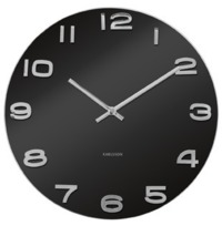 Karlsson Vintage Glass Wall Clock - Black