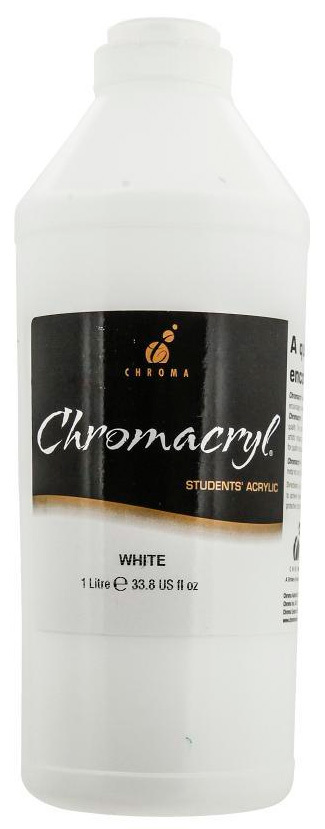 Chromacryl Students' Acrylic Paint 1 Litre (White) image
