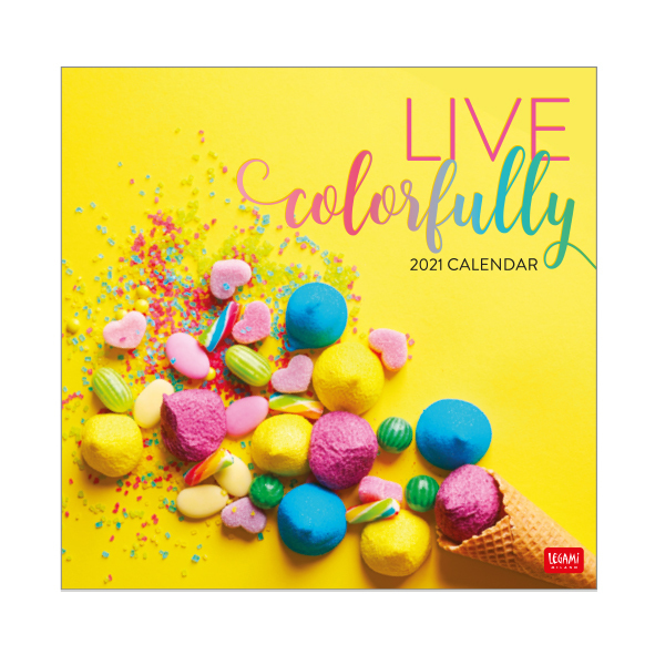 Legami: Live Colorfully 2021 Wall Calendar (30 x 29cm)