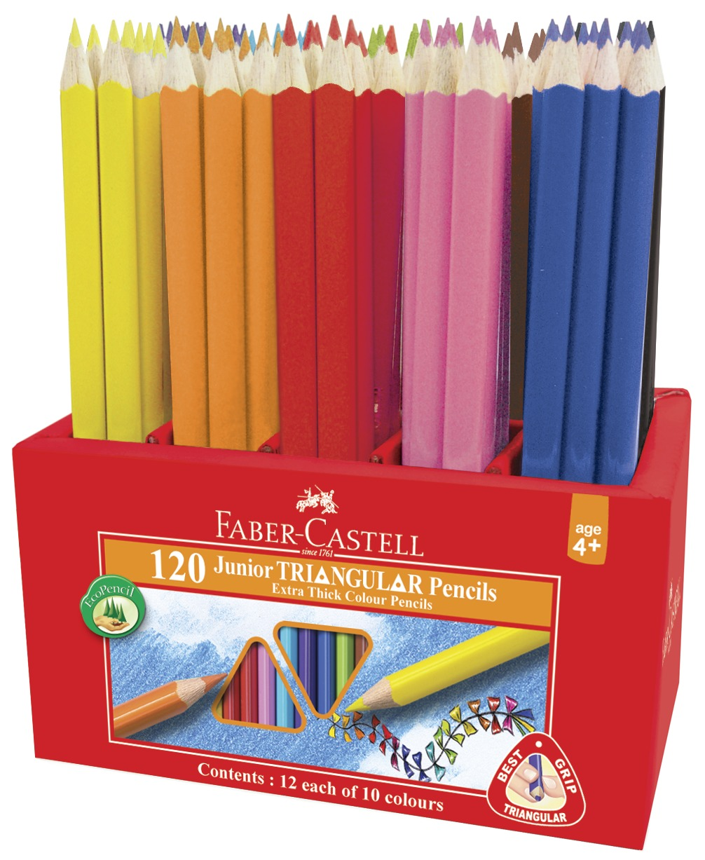 Faber-Castell: Juniour Triangular Colour Pencils (Caddie of 120) image