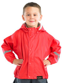 Mum 2 Mum: Rainwear Jacket - Red (3-4 Years)