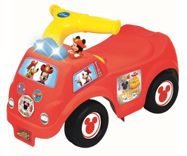Kiddieland: Fire Engine Activity Ride-On - Mickey Mouse
