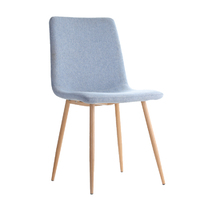 Fraser Country Modern Fabric Dining Chair Set of 2 - Light Blue