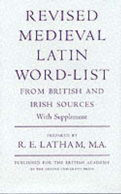 Revised Medieval Latin Word List: From British and Irish Sources