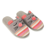 Aroma Home Knitted Animal Slippers - Mouse