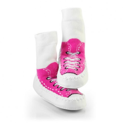 Mocc Ons Sneaker Moccs - Fuchsia (2-3 years) image