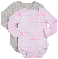Bonds Stretchies Body Suit Long Sleeve - Mountain Days (3-6 Months)