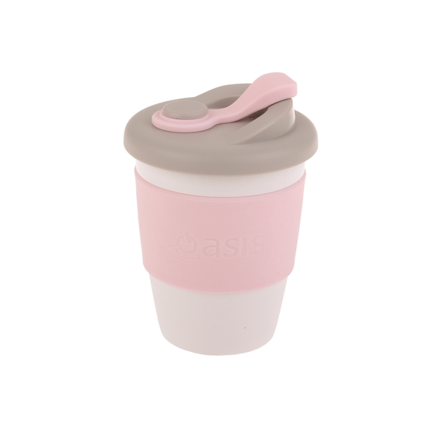 Oasis Plastic Coffee Cup - Pink (340ml)