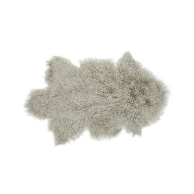Bambury Mongolian Lambswool Rug (Grey)