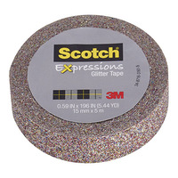 Scotch Expressions: Glitter Washi Tape - Multi (15mm x 5m)